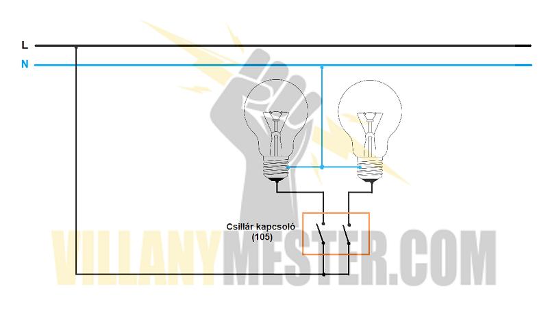 csillárkapcsoló-bekötése